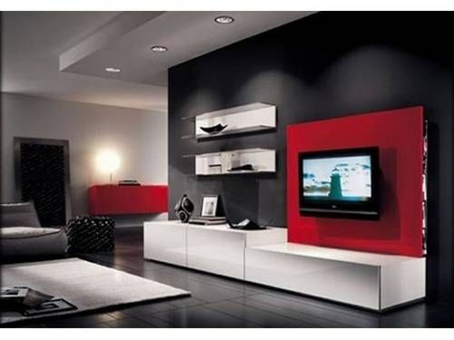 Como Pintar Una Sala Pequena De Dos Colores Salas Coloridas Y Divertidas Por Su Color Y Estructur Black Living Room Living Room Design Modern Living Room Red