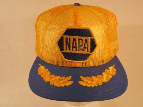 Napa Logo Womens Mens Vintage Snapback Caps Mesh Cap Dad Hats Sun Hat