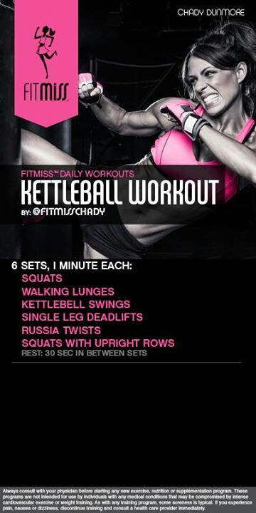 Kettleball workout by fitmiss: