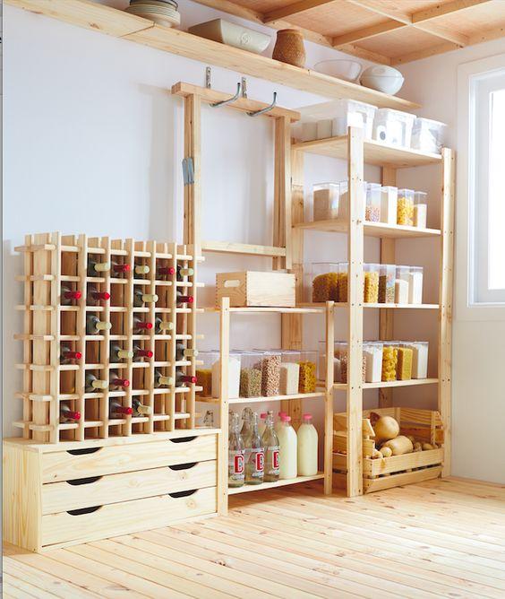 Aprovecha las estanter as y cajas de madera para crear un - Estanterias leroy merlin ...