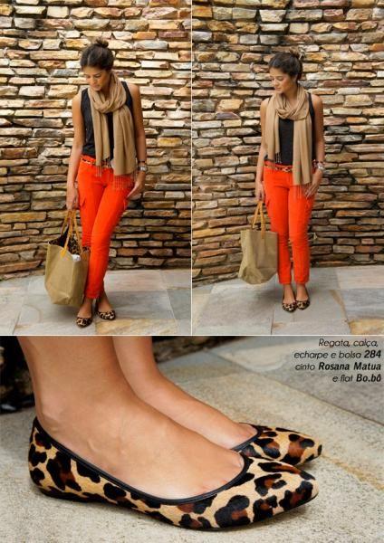 Orange Pants - Thassia Naves
