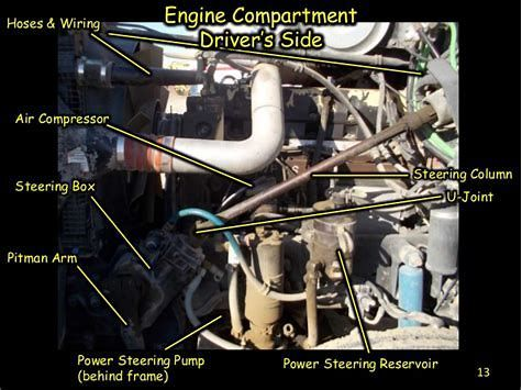 Image Result For School Bus Engine Pre Trip Parts Bus Engine School Bus Driving Vehicle Inspection