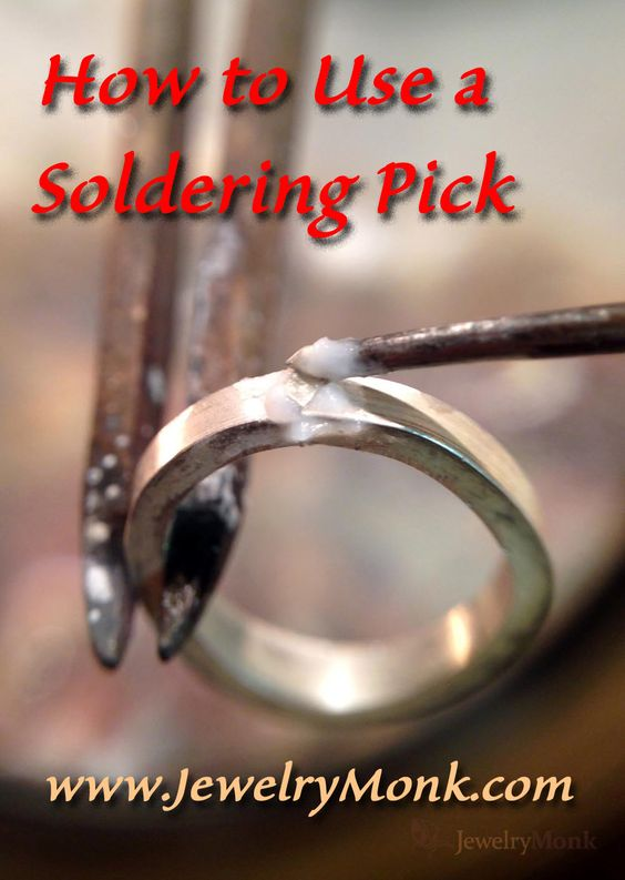 How to Use a Soldering Pick If you are new to soldering, or still a little hesitant in your soldering skills, a Soldering Pick is something you will want to get used to and learn how to use. In soldering there are many uses for a soldering pick, from moving or holding pieces that are being soldered to adding or holding solder in its place during soldering. I use my soldering pick every time I solder to add solder to the joint I am soldering. Read more at www.JewelryMonk.com