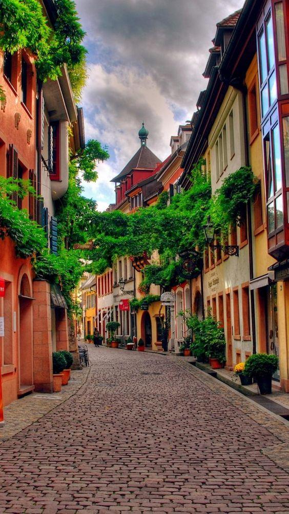 Konvikt Street in Freiburg im Breisgau, Black Forest, Baden-Württemberg , Germany