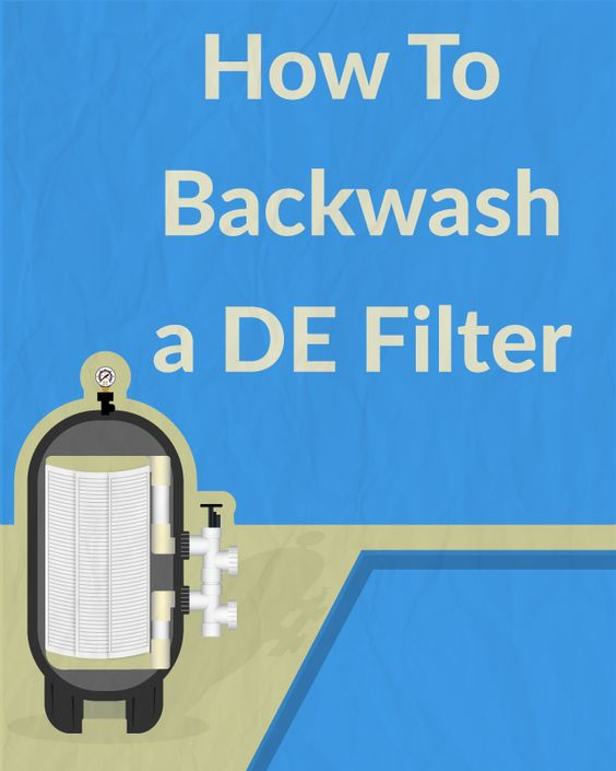 How To Backwash A De Filter Swimming Pool Care Pinterest