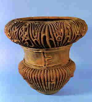 Jomon pottery from Shakado Site in Yamanashi Prefecture. Via Pamela Scott