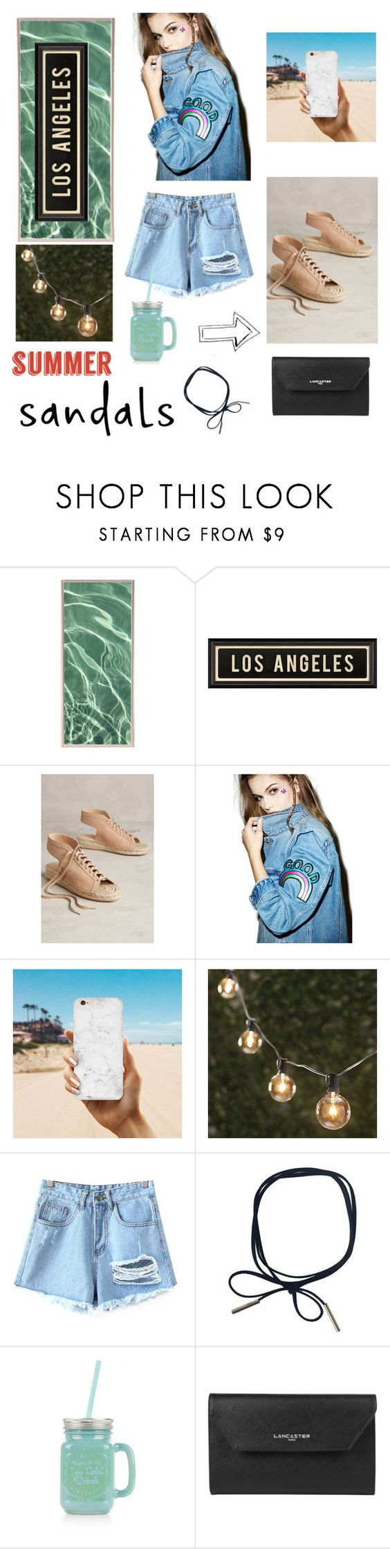 """""""#summersandals"""" by xxdimanaxx ❤ liked on Polyvore featuring Natural Curiosities, Dot & Bo, Pour La Victoire, The Ragged Priest, Thos. Baker, Chicnova Fashion, New Look, Lancaster and summersandals"""