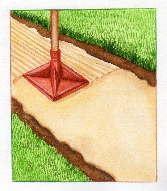 R alisation de sous couche pour all e de gravier aplanir la surface sous c - Type de gravier pour allee ...