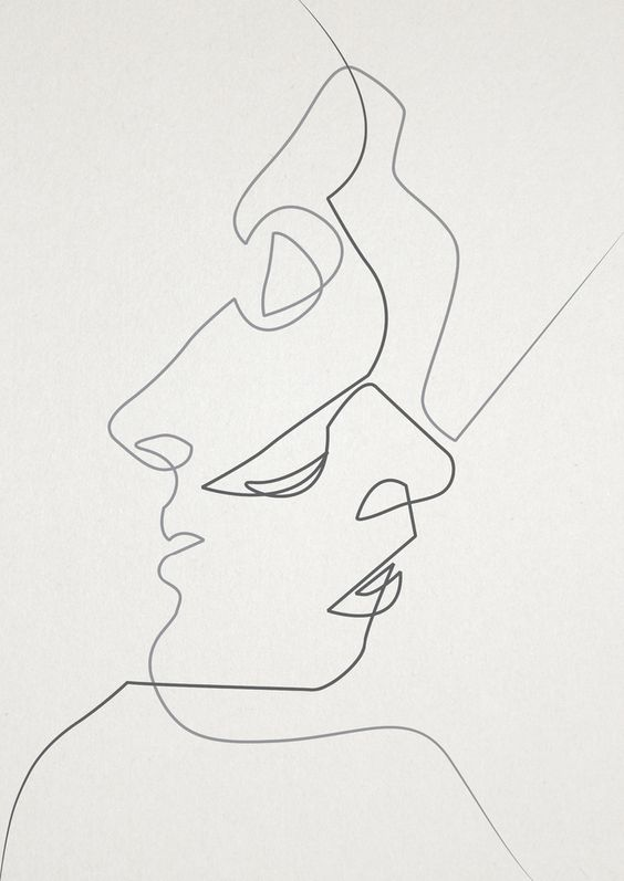 Contour Line Drawing Picasso : Close art print pinterest inspiration contour line