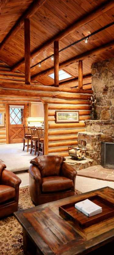 Triple creek ranch rustic western resort log homes for Rustic hunting cabins