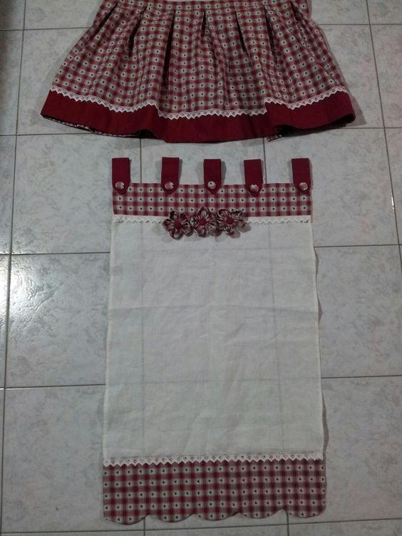 Le creazioni di antonella tendine dietrovetri per cucina con mantovana tende pinterest cucina - Tendine country per cucina ...