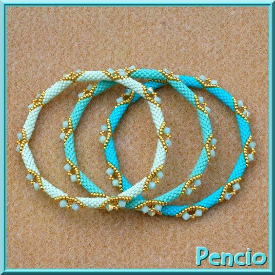 bracelet tutorial in diagrams: