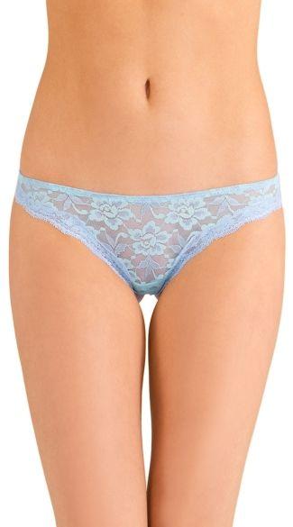 Blue Knockout Lace Thong, Pale Blue Lace Thong