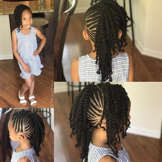 12 Easy Winter Protective Natural Hairstyles For Kids African American Kids Hairstyles Kids Hairstyles Girls Lil Girl Hairstyles