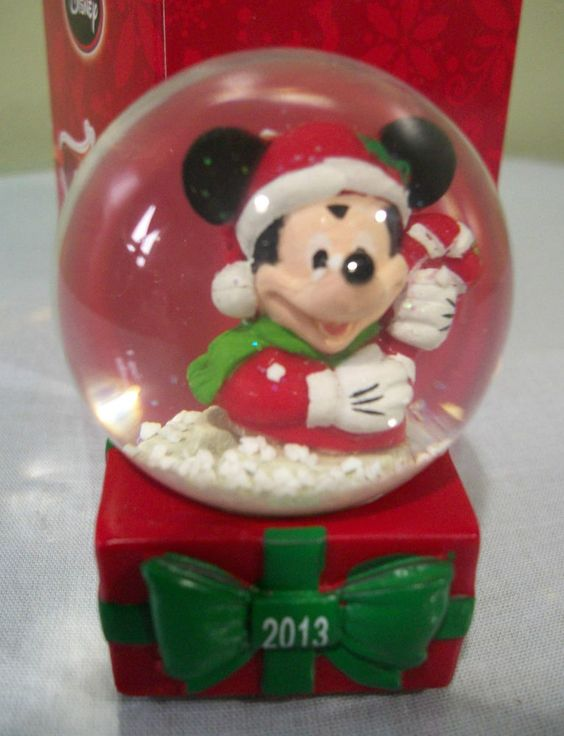 Disney Christmas Mickey Mouse Snowglobe 2013 JCPenney Exclusive  NEW