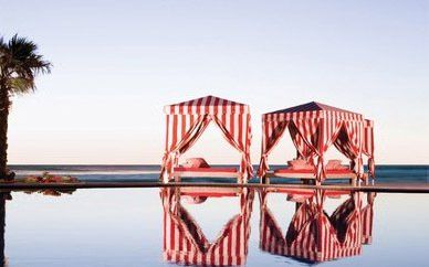 striped red & white cabanas