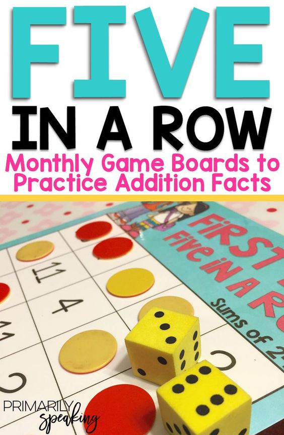 Five in a Row is a fun and engaging game where students practice their basic addition facts.  These FREE monthly game boards keep the game fresh and exciting all year long!