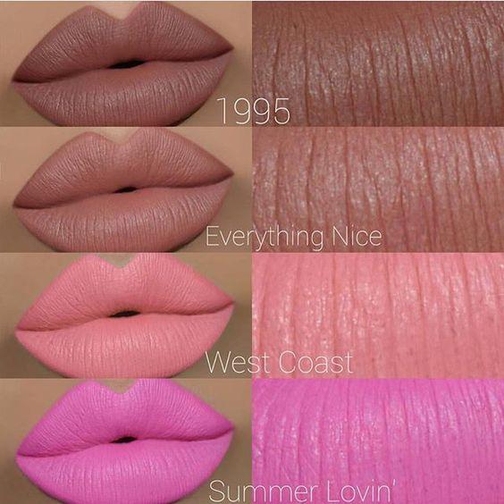 Gerard Cosmetics NEW Hydra Matte Liquid Lipstick shades