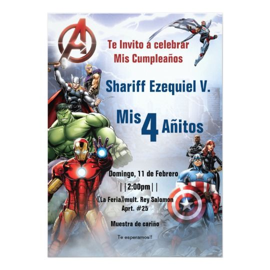 Marvel Avengers Birthday Invitation Zazzle Com