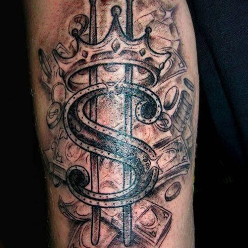 Pin By Tatted Savage38 On Tattoos In 2020 Money Bag Tattoo Money Tattoo Dollar Sign Tattoo