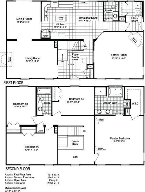Simple nice floor plan love the loft over the foyer i for 40x40 2 story house plans