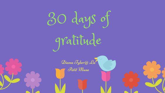 30 days of gratitude: Days 22-24