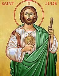Novena Prayer to St. Jude   O Holy St Jude, Apostle and Martyr, great in virtue and rich in miracles, near kinsman of Jesus Christ, faithful intercessor for all who invoke your special patronage in time of need; to you I have recourse from the depth of my heart, and humbly beg you, to whom God has given such great power, to come to my assistance. Help me in my present urgent need and grant my earnest petition. I will never forget thy graces and favors you obtain for me and I will d