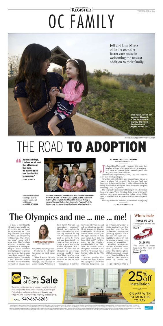 OC Register cover story along with my column for Feb. 11, 2014 #layout #newspaper