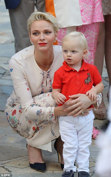 The young royal, who turns two in December,showed that he clearly took after his mother with his blonde locks