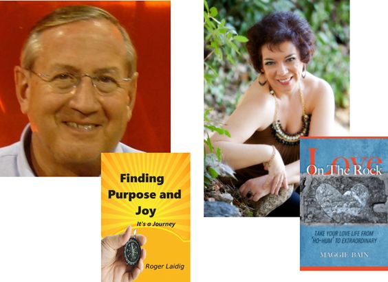 June 3rd on Help! My Mid-life Sucks! Roger Laidig author of Finding Purpose and Joy, It's A Journey uses his life lessons to teach us about joy and purpose and to help us realize it's all about the journey; and Maggie Bain, author of Love on The Rock: Take Your Love Life From 'Ho-Hum' to Extraordinary pulls back the covers to reveal her secrets for making midlife relationships rock solid - AND HOT. Cool conversations on hot topics WED. 8pm EST/5pm PST @ www.boostradionetwork.com