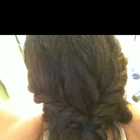 twisted sides pulled back and clipped :)