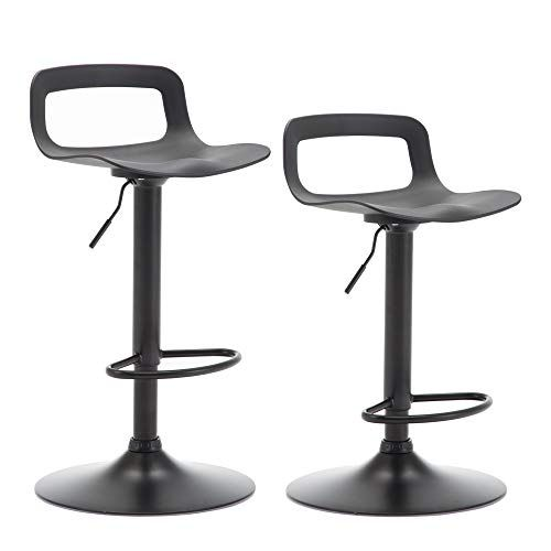 Lsspaid Counter Height Adjustable Barstool Set Of 2 Black Bar