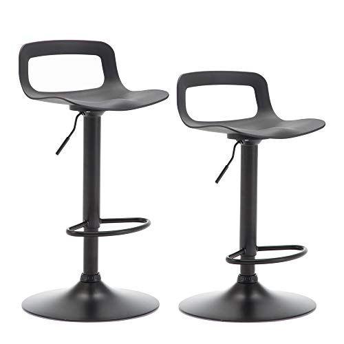 Lsspaid Counter Height Adjustable Barstool Set Of 2 Black Bar