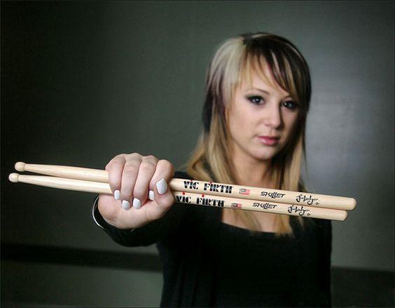 Jen Ledger - drummer for Skillett.  She is amazing!!!!