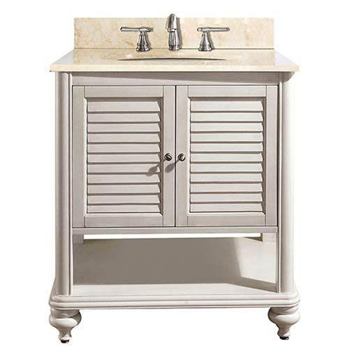 251 First Grace Antique White 30 Inch Sink Vanity With Galala Beige Marble Top Bellacor White Vanity Bathroom Single Bathroom Vanity