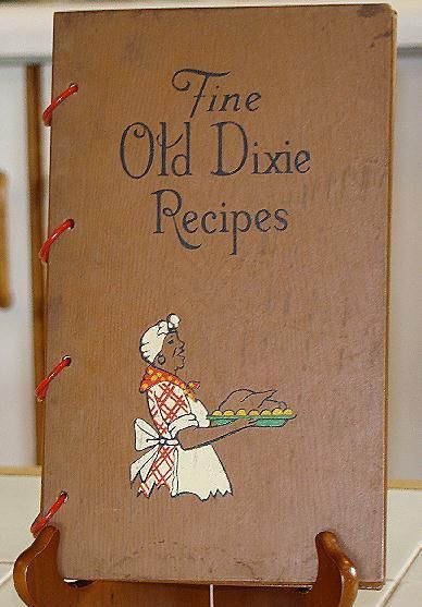 Wood Cover Cookbook : Black americana wood cover fine old dixie recipes