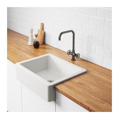 Ikea Havsen White Apron Front Sink In 2020 Ikea Sinks Apron