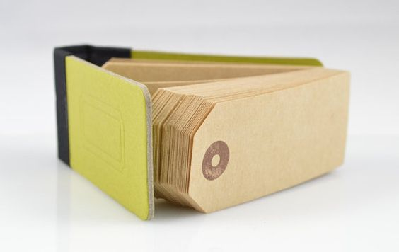 GREEN  MINI NOTEPAD  Olive Green Gift / Swing Tag by lightandco