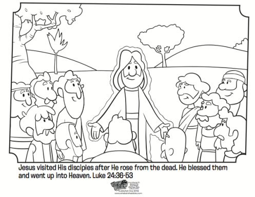 Jesus Appears To His Disciples Free Easter Coloring Page