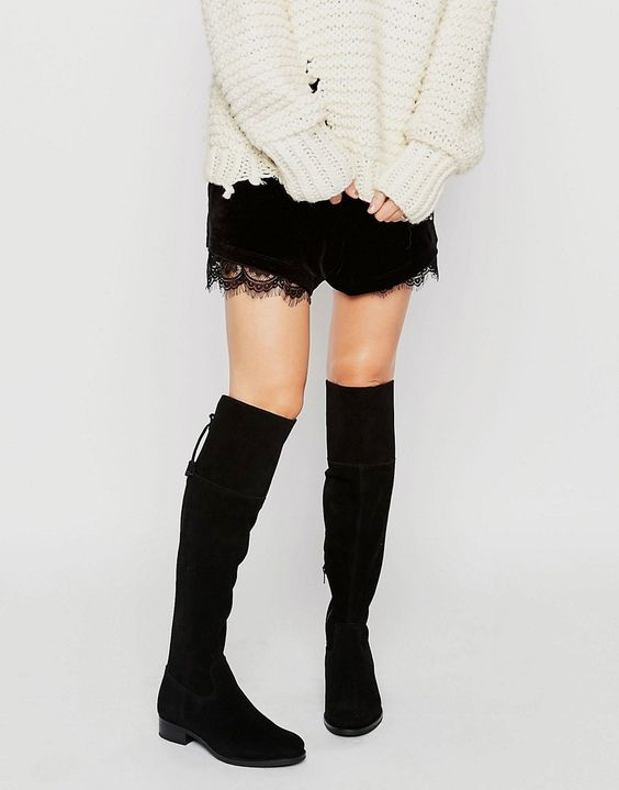 New+Look+Suede+Over+The+Knee+Flat+Boot