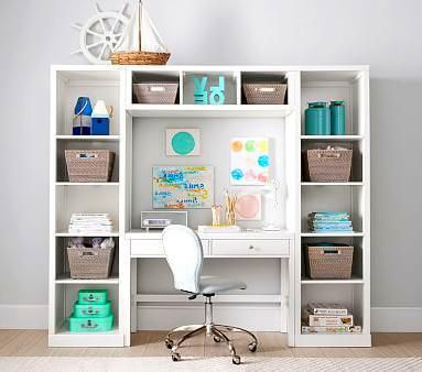 20 Modular Shelving And Desk Wall Mounted System Shelterness Tiny Home Office Home Office Storage Home Office Organization
