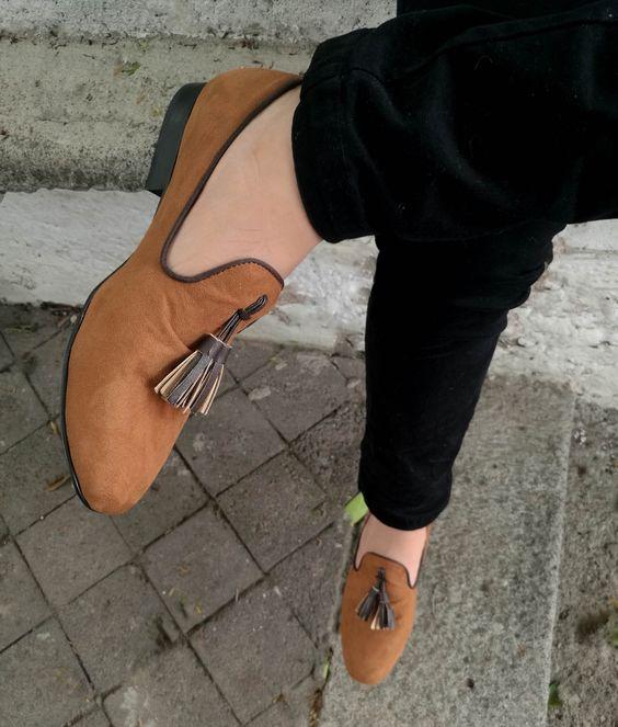 Loafer miel en piel de durazno, diseño exclusivo de Moon & Rain para Tiendas Platino #Loafers #HechoenMexico #ModaMexicana #shoes #slippers