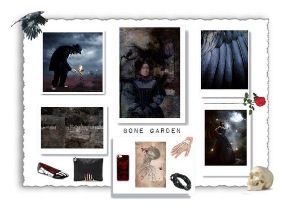 """The Bone Garden"" by debbie-keating-de-juan ❤ liked on Polyvore featuring art"