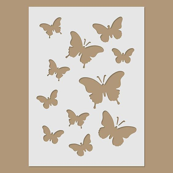 Butterflies Stencil by StencilDirect on Etsy