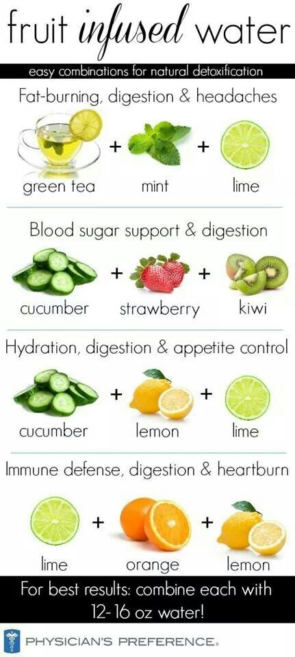 Infused water - My favorite was mint + lemon, 10 kinds of refreshing!