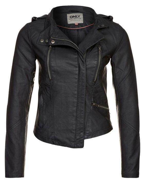ONLY Veste en cuir noir prix promo Zalando 60.00 € TTC