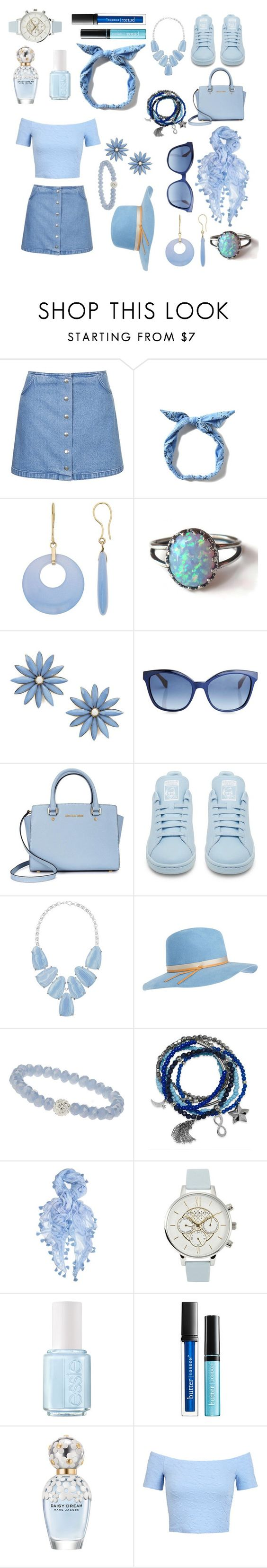 """{Blue mistake}"" by gracemcgibbon ❤ liked on Polyvore featuring Topshop, R.J. Graziano, Fendi, Michael Kors, adidas, Kendra Scott, Calypso Private Label, Wallis, Bar III and Feather & Stone"