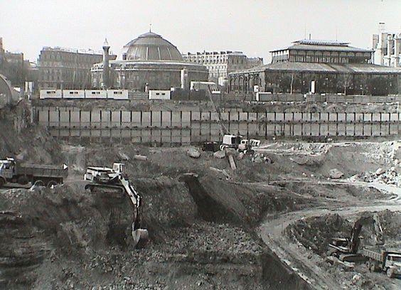 1973 trous des halles travaux de terrassements m moire for Idee terrassement