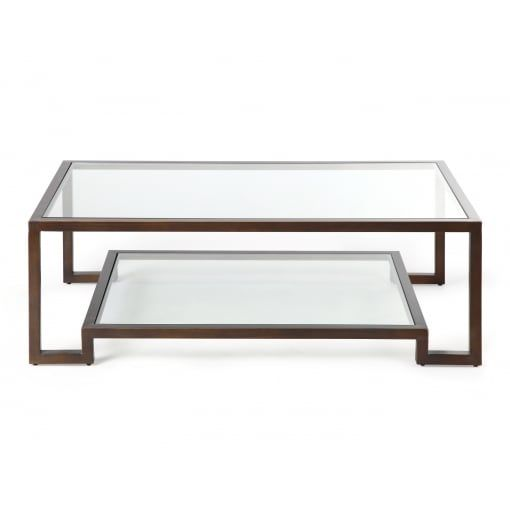 Pin On Coffee Tables Bronze and glass coffee table