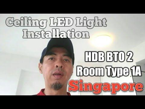 Hdb Bto 2 Room Ceiling Led Light Installation Youtube Bto2roomflat Livinginsmallspace Hdbbto Noreno Led Light Installation Light Installation Led Lights